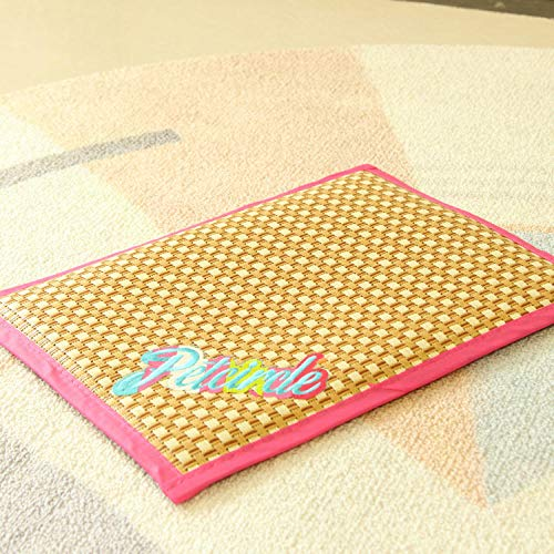 AlierKin Comfortable Puppy PadSummer pet sleeping mat, non-sticky hair and bite resistant cat mat, can be used in all four seasons-pink_M