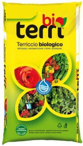 Terriccio terra substrato biologico 20 lt per coltivazioni orto ortaggi piante