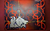• • Graffiti-Bilder auf Leinwand | Dekoration für Ihre Wohnung oder Haus | modern und zeitlos | Deko-Bild | handbemalt mit Acryl-Farben | was anderes als ein Poster | by WROET | Motiv =...