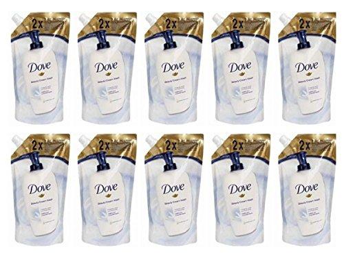 10 jabones líquidos Dove originales de 500 ml para Beauty Cream Bar...
