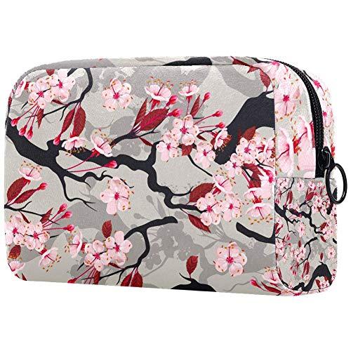 Trousse de toilette pour femme Motif fleurs de cerisier Sakura