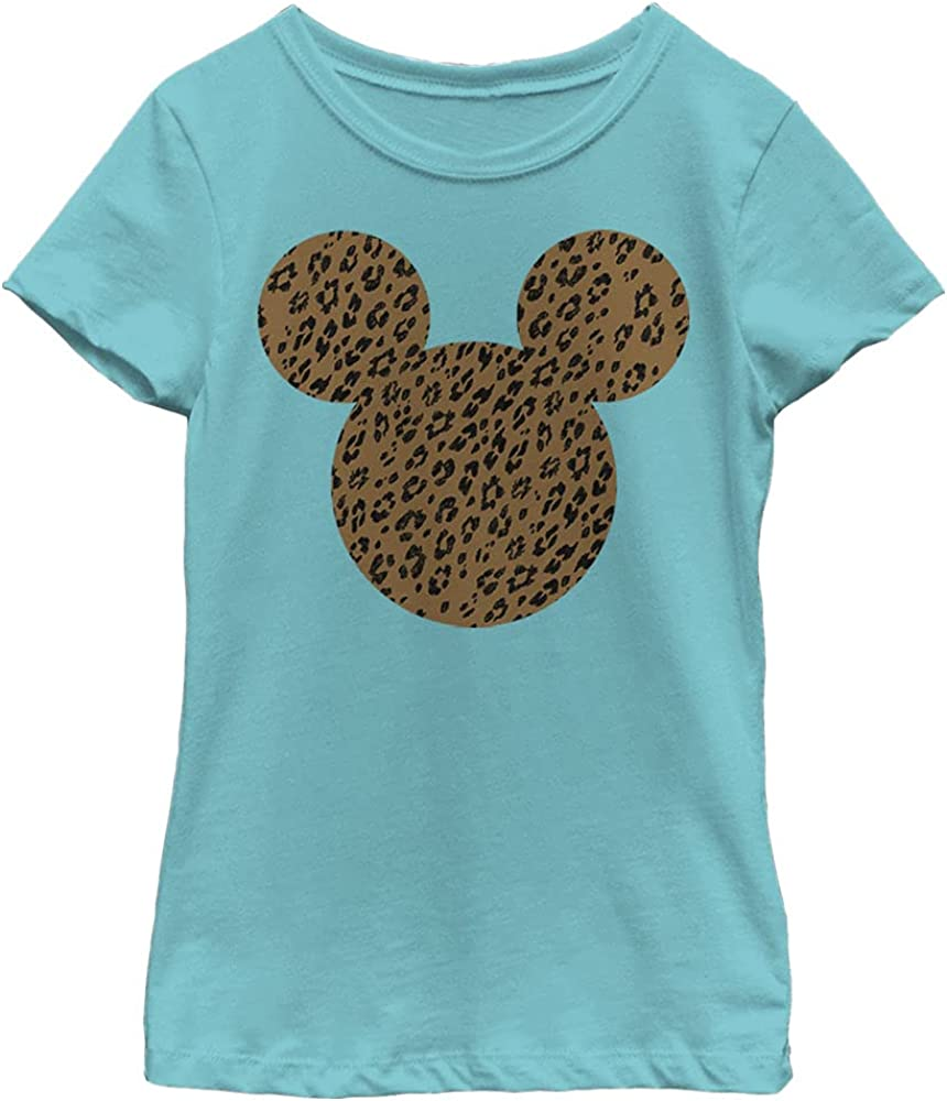 Disney Characters Cheetah Mouse Girl's Solid Crew Tee