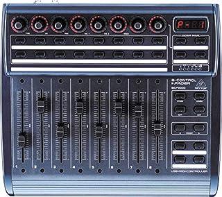 بيرينجر – جهاز تحكم USB / MIDI مع 8 خلاطات صوت هزاز موتور, اسود [BCF2000]