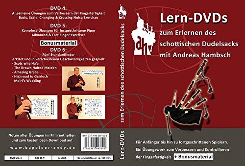 Lern-DVDs Dudelsack - Übungen und Lieder (rot), 3 DVDs