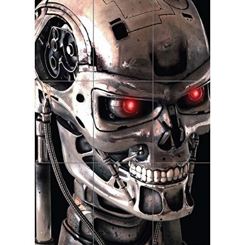 Doppelganger33 LTD Terminator 2 Robot Skeleton Wall Art Multi Panel Poster Print 33x47 inches