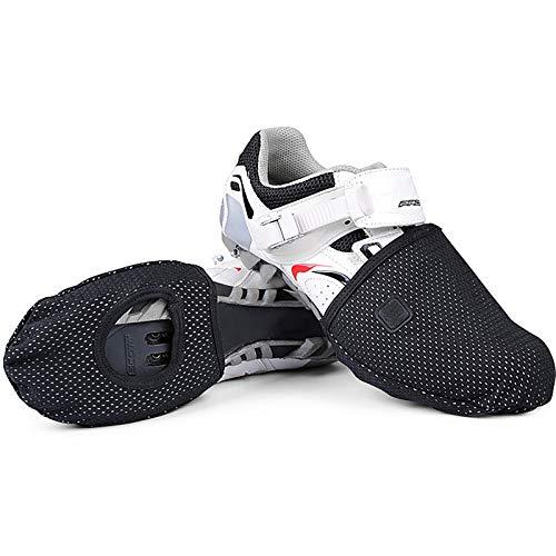 Mezza Palma Copriscarpe da Ciclismo, Impermeabili Invernale Antivento Protettore Vello Caldo Soprascarpe MTB Soprascarpe Bici Protezione Scarpe Ciclismo MTB,Nero,46