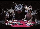 ZXCVASD Rompecabezas para Adultos, Juegos de Rompecabezas para la Familia, Rompecabezas de cartón, Juegos educativos, Rompecabezas de desafío Cerebral para niños, Juego de Cartas Pug-1000 Pieces