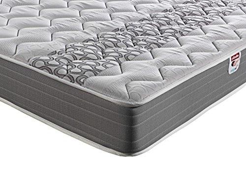 PIKOLIN, Colchón viscoelástico carbono de gama alta, 150x190, máxima calidad y confort, firmeza media, Altura 26 cm. Modelo Troya