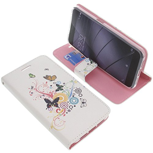 foto-kontor Tasche für Gigaset Me Pro Book Style Schmetterlinge Schutz Hülle Buch