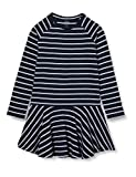 NAME IT Mädchen NKFVALENTINA LS Dress B Kinderkleid, Blau (Dark Sapphire), 134