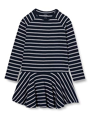 NAME IT Mädchen NKFVALENTINA LS DRESS B Kinderkleid, Blau (Dark Sapphire), 164