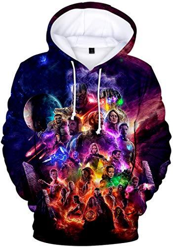 PANOZON Herren 3D Druck Avengers Endgame Kapuzenpullover Hooded Sweater Sport Tops(Stein1682, XL)