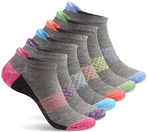 No Show Socks Damen Knöchelsocken, Sportsocken zum Laufen, 6 Paar - - Einheitsgröße