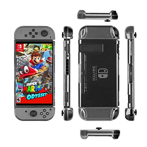 TPN Gaming Premium Quality Clear Shock Absorption Nintendo Switch Case for Video Games Mario Zelda Wii