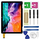 LXun Touch Screen Glass Replacement for Onn 10.1 inch Tablet 2APUQW1027 Model 100011886 Front Touch Screen Digitizer with Repair Tool Kit (NO Include LCD)