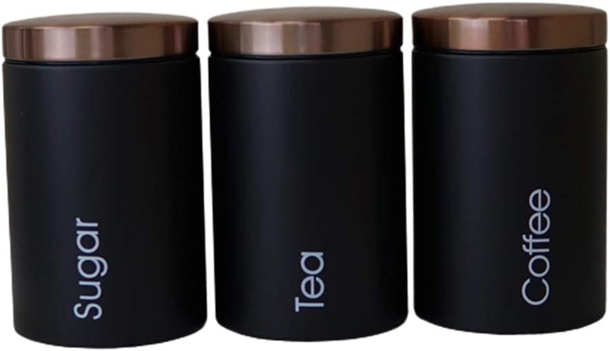 MagiDeal 3pcs Set Food Luxury Inexpensive Storage for Canister Cof and Organization