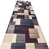 WGOOGT Extra Lange Läufer Teppich Flur Läufer Teppiche grau rutschfeste weiche geometrische Muster geruchlos anpassbare Teppich for Flur Treppen Wohnzimmer Foyer Schlafzimmer (Size : 0.9 x 3m)