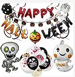 Decoración Globos Halloween, Happy Halloween Banderinas Set