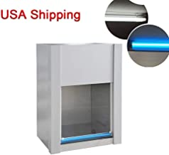 Denshine Class 100 (Fed 209E) Vertical Ventilation Laminar Flow Hood Air Flow Clean Bench Workstation 110V Vertical Flow Laminar Flow Hood Fan Air Clean Bench for Lab and Industry - Shipping from USA