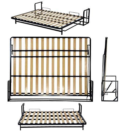 Doble horizontal de pared cama 135cm x 190cm (Wallbedking Classic Murphy bed,...