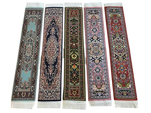 Set di 5 segnalibri in tessuto con motivi orientali Set 2