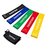HOONSO Resistance Bands for Legs and Butt, Exercise Bands Loops 9 inch with...