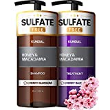 KUNDAL Sulfate Free Shampoo and Conditioner Set with Argan Oil - Moisturizing Nourishing for Dry...