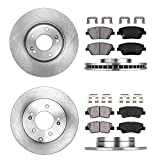 CRK13661 FRONT 300 mm + REAR 283 mm Premium OE 5 Lug [4] Rotors + [8] Quiet Low Dust Ceramic Brake Pads + Clips