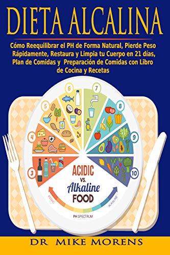 Dieta Alcalina: Cómo Reequilibrar el PH de Forma Natural, Pierde Peso Rápidamente, Restaura y Limpia tu Cuerpo en 21 días, Plan de Comidas y Preparación ... y Recetas (Diet Spanish Edition nº 1)