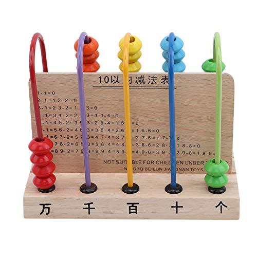 FEITeng Kinder Abacus Holz Zählrahmen Lernspielzeug Mathematik Lernen Manipulative Spielzeug Geschenk