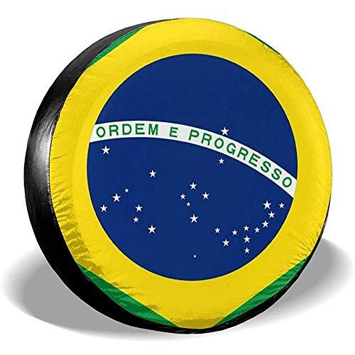 Brasilia Beschermhoes voor autobanden, bescherming tegen de zon, regenbescherming, bandendiameter, voor SUV, aanhanger, verschillende voertuigen 17in/80~83cm 4 X 100 M
