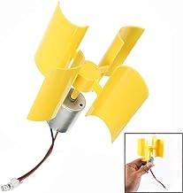 LHKJ DIY Motor Vertical Hojas de Turbinas de Viento Mini Generador de Viento LED Modelo De Enseñanza