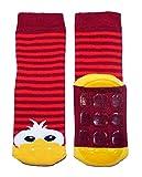 Weri Spezials Baby & Kinder Stoppersocken Enten Motiv für Mädchen & Jungen in 8 tollen Farben, Voll-ABS Antirutschsohle Anti-Rutsch (23-26, Rubin)