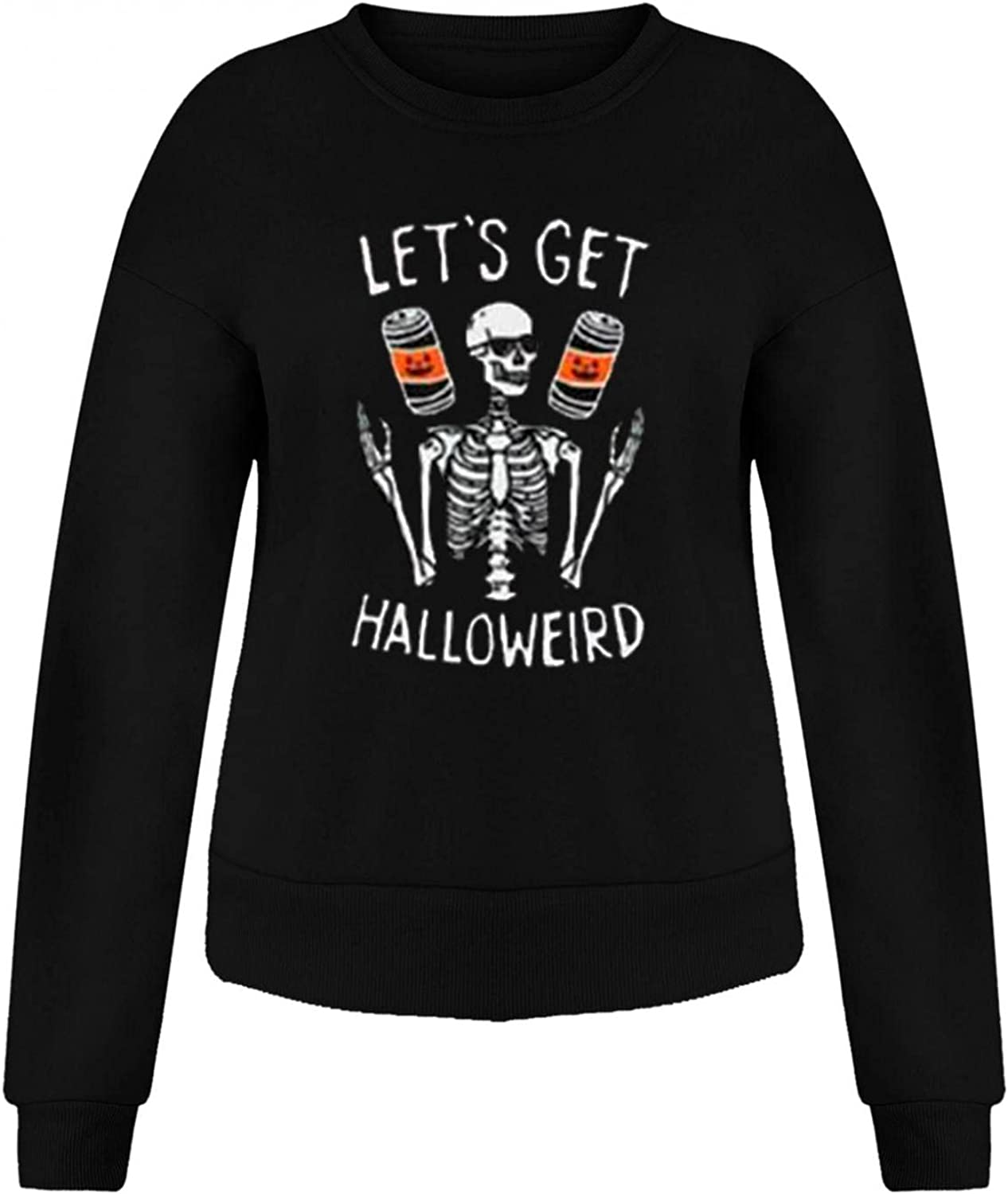 Halloween Graphic Sweatshirts for Women Fashion Crewneck Loose Fit Casual Long Sleeve Cute Pumpkin Pullover Sweaters