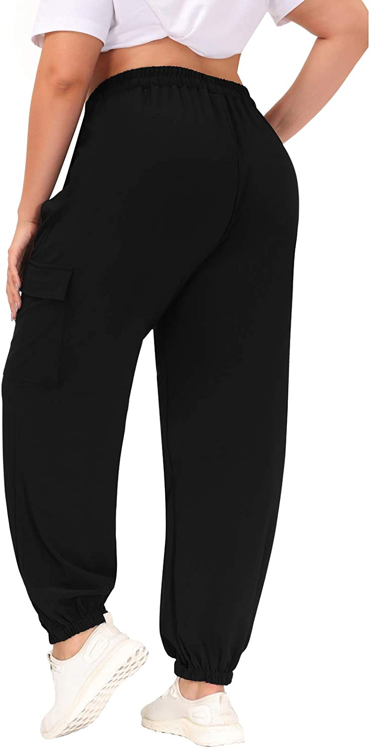 Discount is also underway Hanna Nikole Womens Cargo Pants Waisted Baggy High Elastic Jogge Max 76% OFF