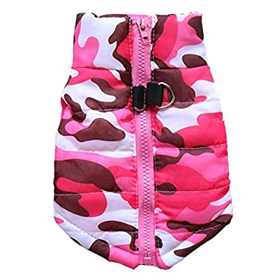 BT Bear® Puppy Coat,Small Dog Winter Coat Vest Puppy Soft Warm Coat Jacket Clothing Costume for Cats Puppy Small Dogs (X-Large-Back length 39cm, Hot Pink)