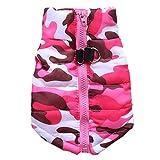BT Bear® - Abrigo para cachorro, para perros pequeños, abrigo de invierno, para cachorros, cachorros, cachorros, perros pequeños, longitud de espalda mediana, 29 cm, color rosa