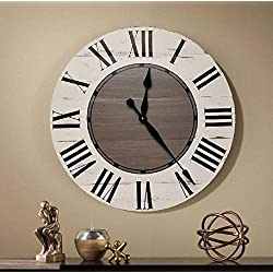 Tovie 36 Inch Farmhouse Wall Clock - Farmhouse clock - rustic clock - over sized wall clock - big clock - large clock - farmhouse decor - rustic decor -