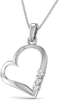 Dishis Desginer Jewelry Astonishing Pendant Necklace for Women in 14K White Gold with Jewelry Gift Box