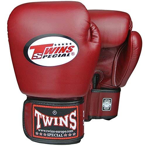 Twins Special Boxhandschuhe, Leder, BGVL-3, weinrot Größe 14 Oz