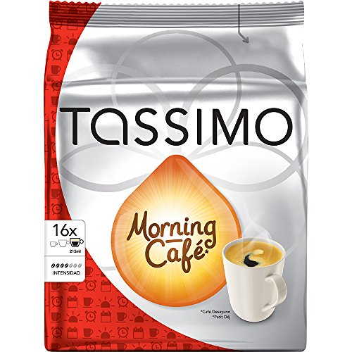 Factory Sealed Pack Tassimo T-Disc Pods Jacobs Morning Cafe Coffee - 16 Servings