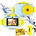 Kids Waterproof Camera, ROTEK 8MP HD 1080p Kids Underwater Digital Camera Camcorder