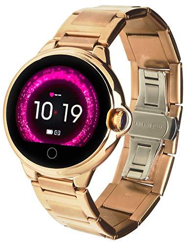 Garett Electronics Frauen Karen Stahl Smartwatch, Gold, 5903246285055