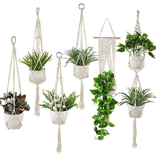 Plant Hangers Set of 6 Pack Indo...