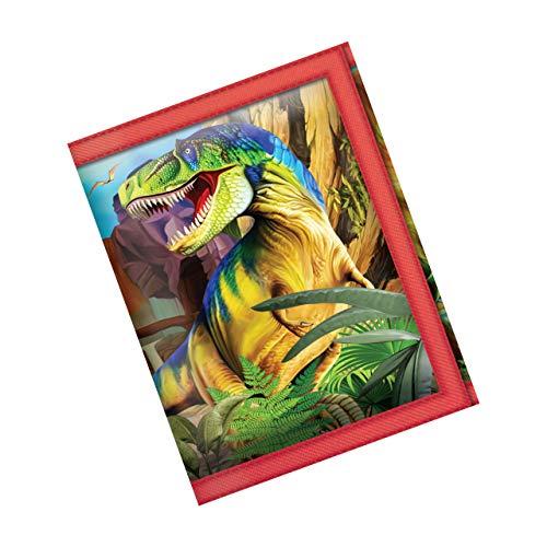 3D LiveLife Carteras - Dinosaurio Sonriente de Deluxebase. Cartera lenticular 3D con diseño de Dinosaurio. Billetera con Monedero y Tarjetero con ilustración del reconocido Artista Michael Searle