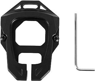 u-Box Aluminum Key Fob Cover Case Compatible with Jeep Wrangler JK 2007-2018 (Black)