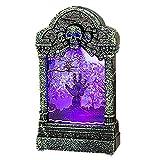 CAOLATOR. Luces de Noche de Halloween LED Adornos de lápidas Brillantes PVC Halloween LED Luces Bruja Lindo Calabaza LED Halloween para Interior Exterior Hogar Decoración Fiesta-7.2 * 3.8 * 12.6cm