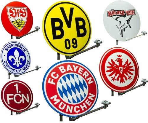 BVB Borussia Dortmund Satcover für Satellitenschüssel Fanartikel für Satanlagen Camping Satschüssel Satelitenspiegel Spiegel (ø 78-87cm, Borussia Dormund)