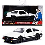 DIECAST 1:32 W/B - Hollywood Rides - Initial D First Stage - Toyota Trueno (AE86) (Black/White) 99801 by JADA