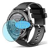 3枚 VacFun ブルーライトカット フィルム , ELEGIANT C520 スマートウォッチ smart watch 向けの ブルーライトカットフィルム 保護フィルム 液晶保護フィルム(非 ガラスフィルム 強化ガラス ガラス ) ニュー